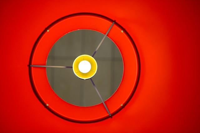 červená lampa