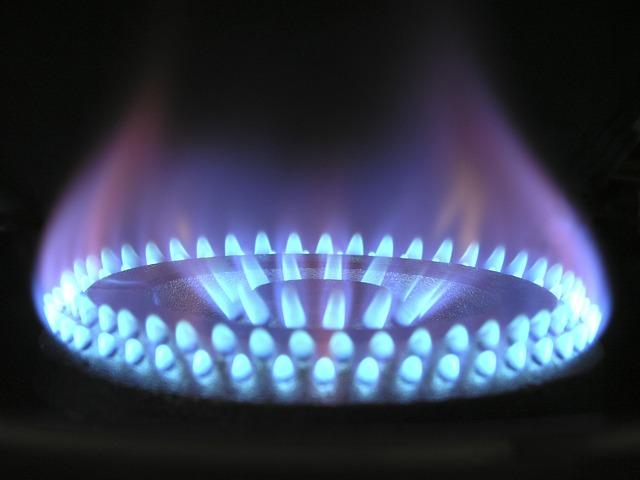 plameny plynového hořáku