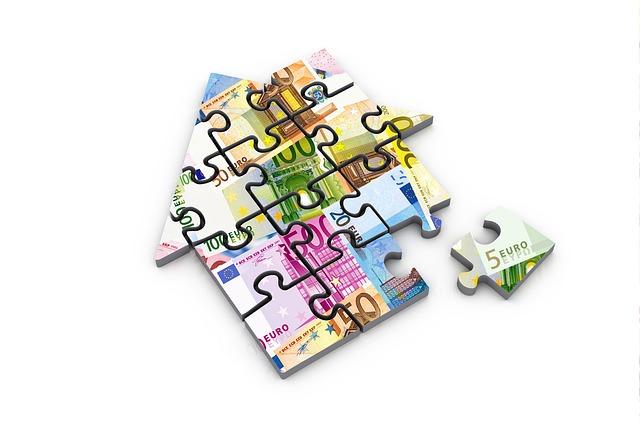 puzzle z peněz