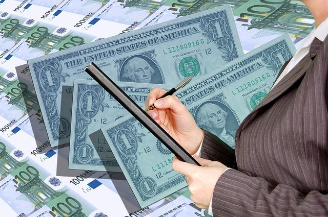 dolary, peníze, zapisovat