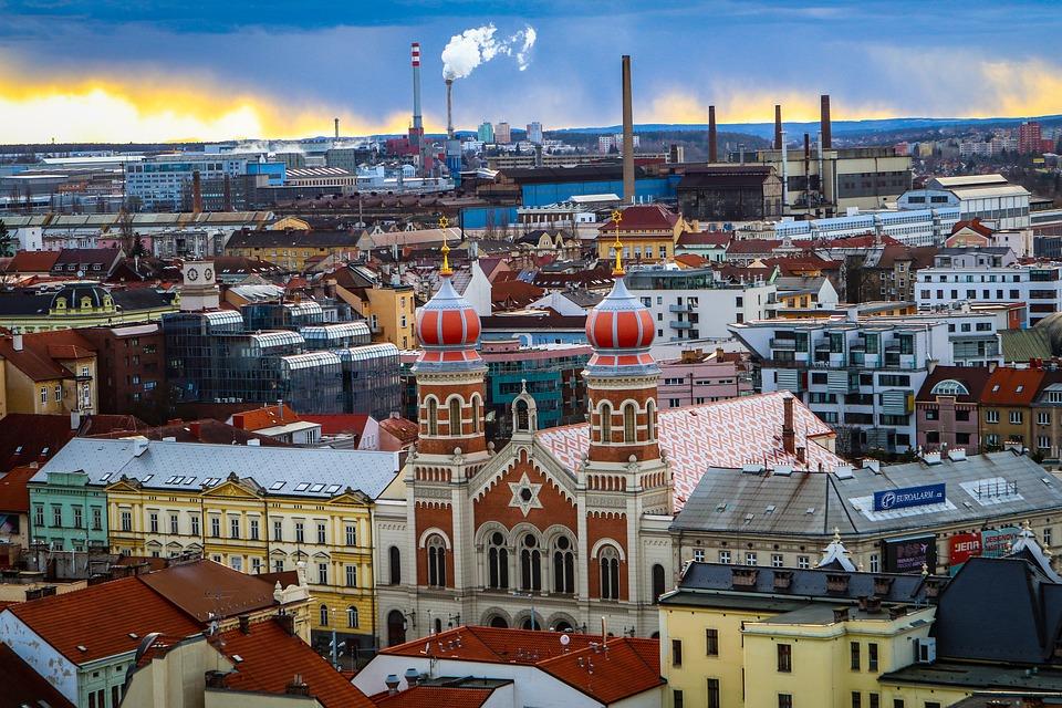 panorama Plzně